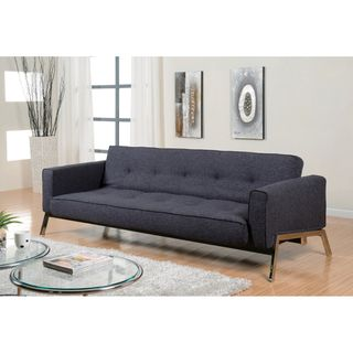 Abbyson Living Valentino Charcoal Grey Fabric Sofa Bed