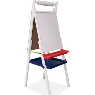 Studio Designs Kids White Foldable Dual sided Easel With Storage Tray