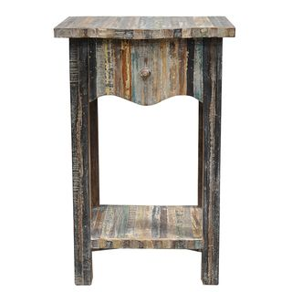 Soli One Drawer Reclaimed Wood Table