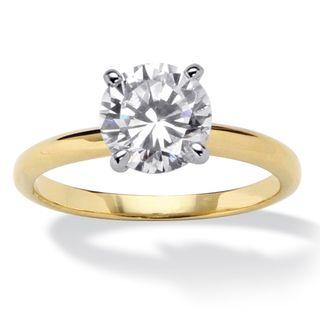 Ultimate CZ Two tone Cubic Zirconia Engagement style Ring