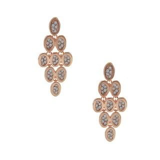 Morgan Ashleigh Rose Goldtone Glass Chandelier Earrings