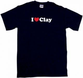 I Heart (Love) Clay Kids T Shirt In 5 Colors 2T thru Youth