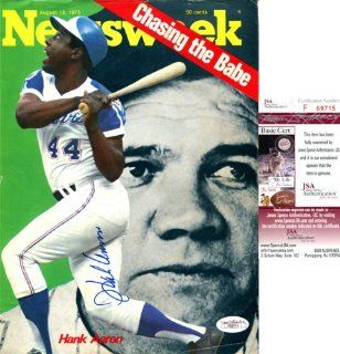 Hank Aaron Autographed Newsweek Magazine Cover (James
