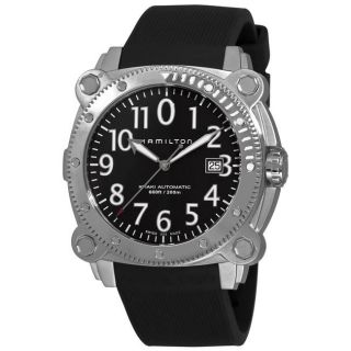 Hamilton Mens Khaki Navy BelowZero Rubber Strap Automatic Watch