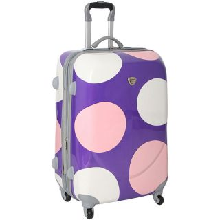 International Traveler 28 inch Shiny Dot Spinner Upright Luggage