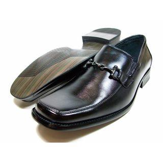 Delli Aldo Mens Square Toe Buckle Vamp Loafers