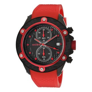 Red Line Mens Carbon Brake Red Textured Silicone Watch