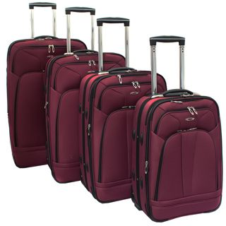 Kemyer Purple Berry 4 piece Expandable Upright Luggage Set