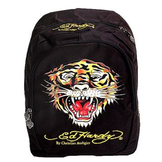 Ed Hardy Boys Tiger Graphic Print Backpack