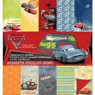 Disney Specialty Paper Pad 12X12 24 Sheets Cars 2