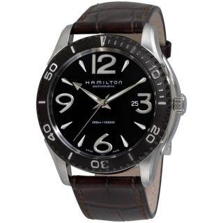 Hamilton Mens Seaview 1000 Brown Strap Automatic Watch