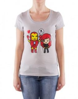 Marvel X Tokidoki Black Widow Gray Girls T Shirt