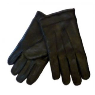 Mens Black Leather Gloves Isotoner fleece lined XL