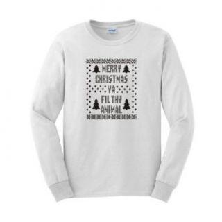 Merry Christmas Ya Filthy Animal Long Sleeve T Shirt Ugly
