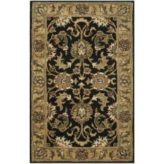 Handmade Traditions Black/ Light Brown Wool Rug (23 x 4)