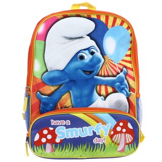 Smurfs Have a Smurfy Day 16 inch Backpack