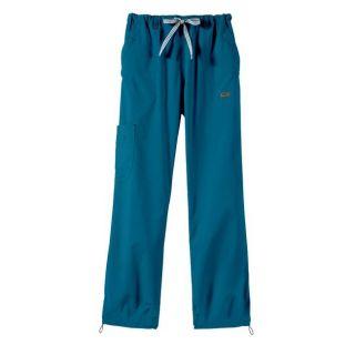 IguanaMed Womens Adobo Blue Sport Cargo Scrub Pants