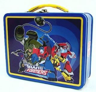Transformers Animated Autobots blue Kids Tin Lunch Box