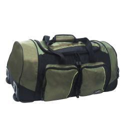 Olympia 26 inch Jacquard Fabric Rolling Duffel Bag