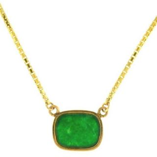 Mason Kay 14k Yellow Gold Jade Tablet Necklace