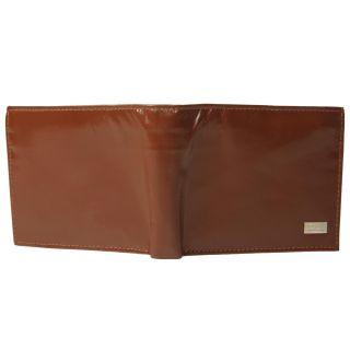 Boston Traveler Mens Genuine Leather Bi fold Wallet