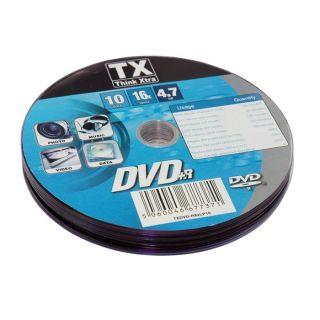TX Pack de 10 DVD+R   Achat / Vente CD   DVD   BLU RAY VIERGE TX Pack