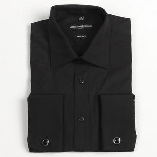 Jean Paul Germain Mens Black French Cuff Dress Shirt