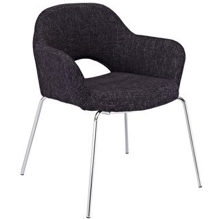 Saarinen Style Black Fabric Arm Chair