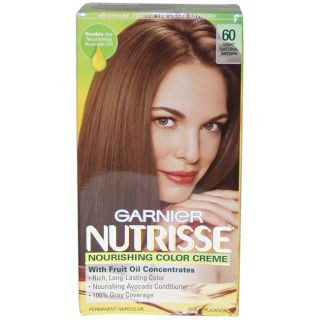 Garnier Nutrisse Nourishing Color Creme #60 Light Natural Brown Hair