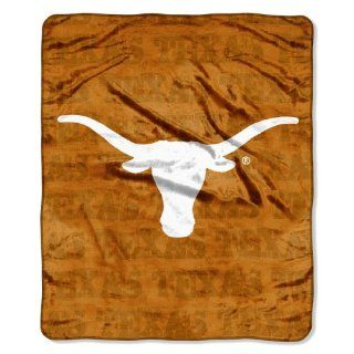 NCAA Texas Longhorns Micro Plush Raschel Throw Blanket