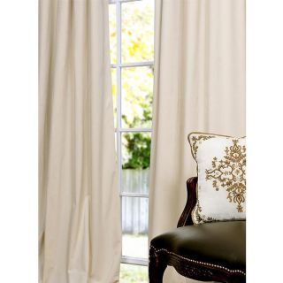 Signature Ivory Velvet 120 inch Blackout Curtain Panel
