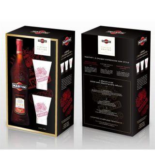 Coffret Martini rosso rouge 1 litre   Achat / Vente APERITIF A BASE DE