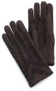 Isotoner Mens Spandex Gloves   Knit Lined Brown (M/L