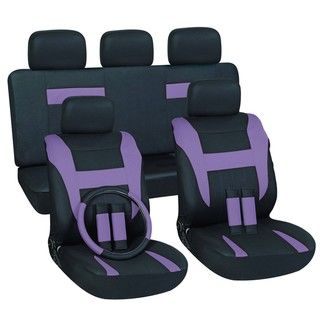 Purple 16 piece Car Seat Cover Set