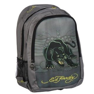 Ed Hardy Roni Panther Neoprene Front Panel Backpack
