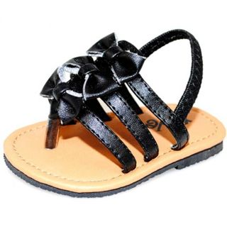 Baby Girl Black Bow Fashion Crib Sandals Today $22.99