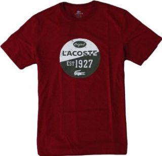 Lacoste Original Logo Tee Shirt (X Large, Deep Red