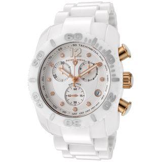 Swiss Legend Mens Commander White High Grade Ceramic Watch