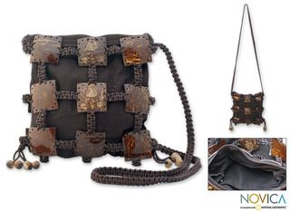 Coconut Shell Earth Roses Shoulder Bag (Thailand)