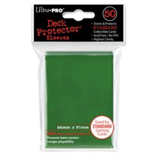 PRO   Ultra Pro 50 pochettes Deck Protector Solid Vert   Comprend 50