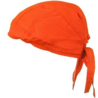 Solid Color Series Head Wraps   High Visivility Orange One