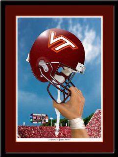 Virginia Tech Victory Helmet Hokies Football Print Sports