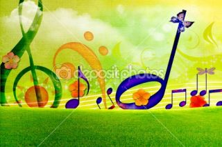 SUMMER MUSIC WALLPAPERS  Foto stock © Sviatlana Dzyachenka #5971725