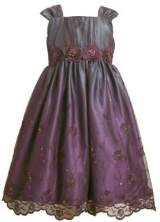 Bonnie Jean Girls 7 16 Embroidered Mesh Sequin Emma Dress