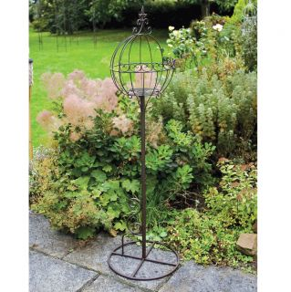 Laura Ashley Chestnut Ball Metal Plant Stand