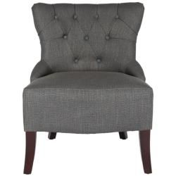 Newbury Tufted Graphite Grey Living Room Chairs (Set of 2)