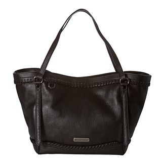 Burberry Small Black Woven Leather Tote Bag