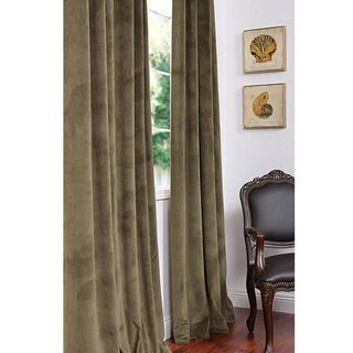 Signature Hunter Green Velvet 120 inch Blackout Curtain Panel