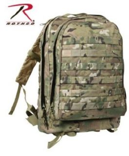 MOLLE II 3 Day Assault Pack, Multi Cam Clothing