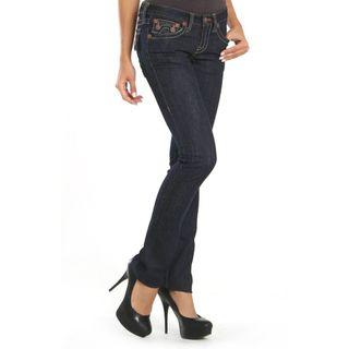 Laguna Beach Womens Hermosa Beach Raw Blue Slim Fit Jeans